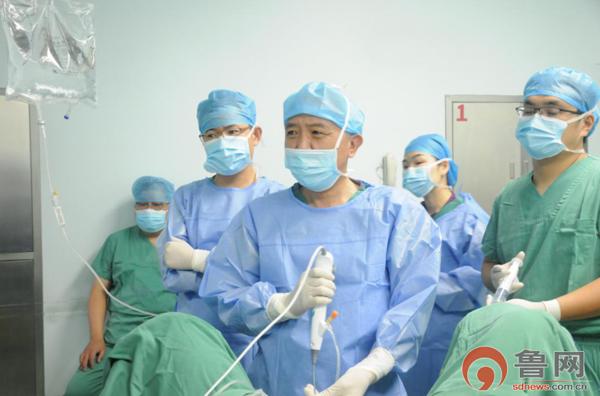 菏泽首例国产输尿管电子软镜钬激